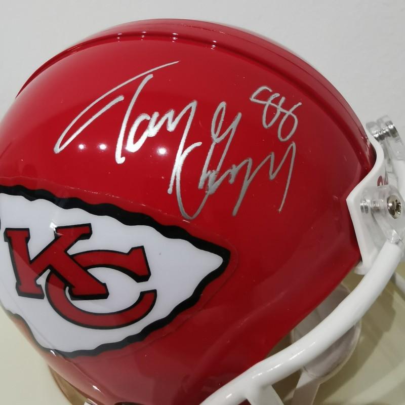 NFL Kansas Chiefs Mini Helmet Signed by Tony Gonzalez