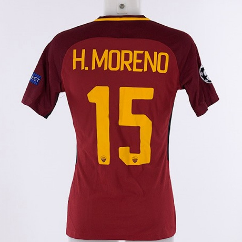 Héctor Moreno's Match-Issued Roma-Atletico Madrid CL 2017/18 Shirt