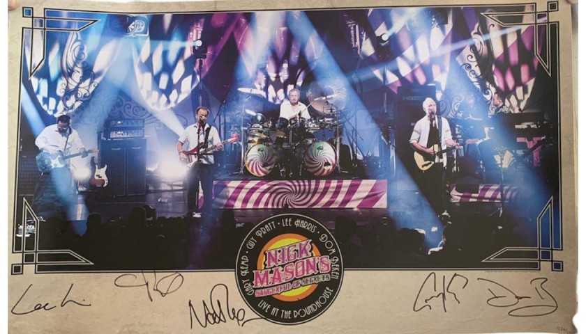 Nick Mason Pink Floyd Signed Official Lithograph