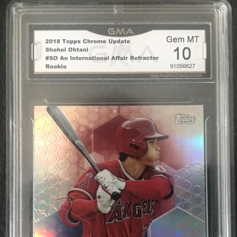 Shohei Ohtani 2018 Topps Chrome Card Mint 10 GMA Baseball Card