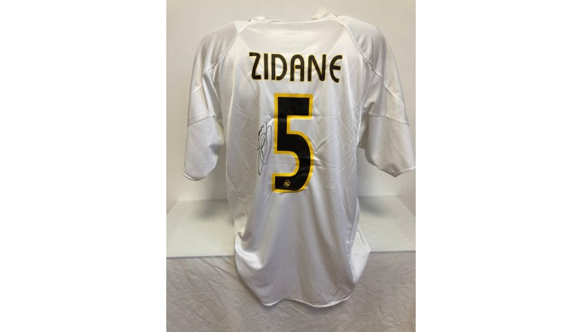 Zidane's Official Real Madrid Signed Shirt, 2004/05