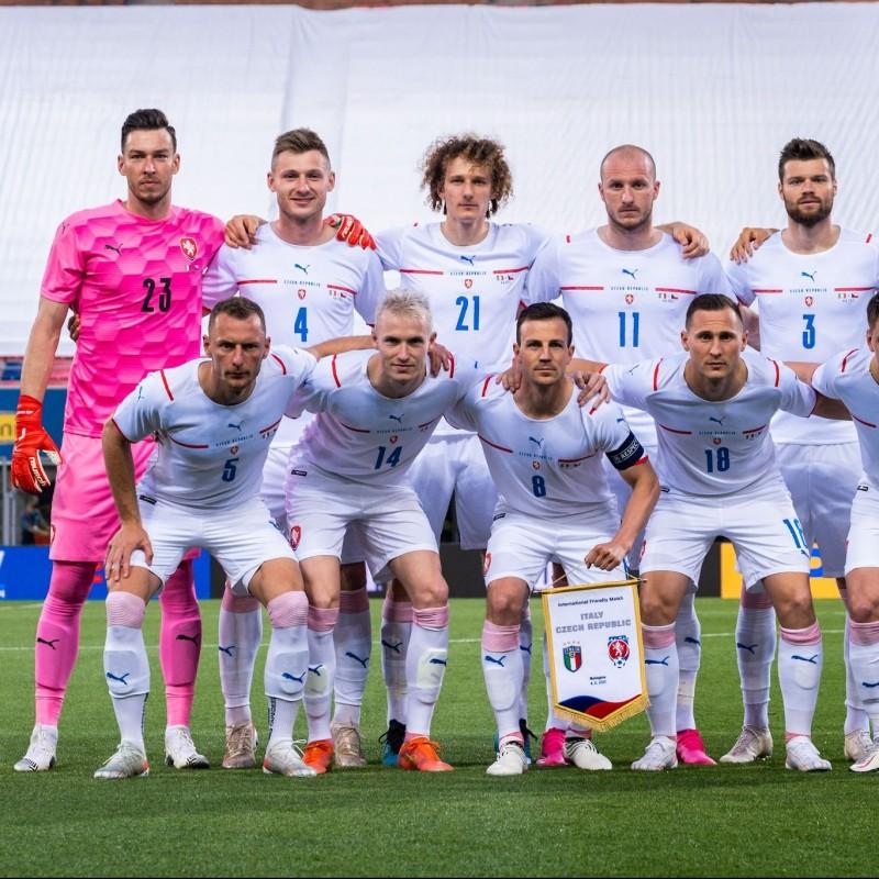Pekhart's Match Worn Shirt, Italy-Czech Republic 2021