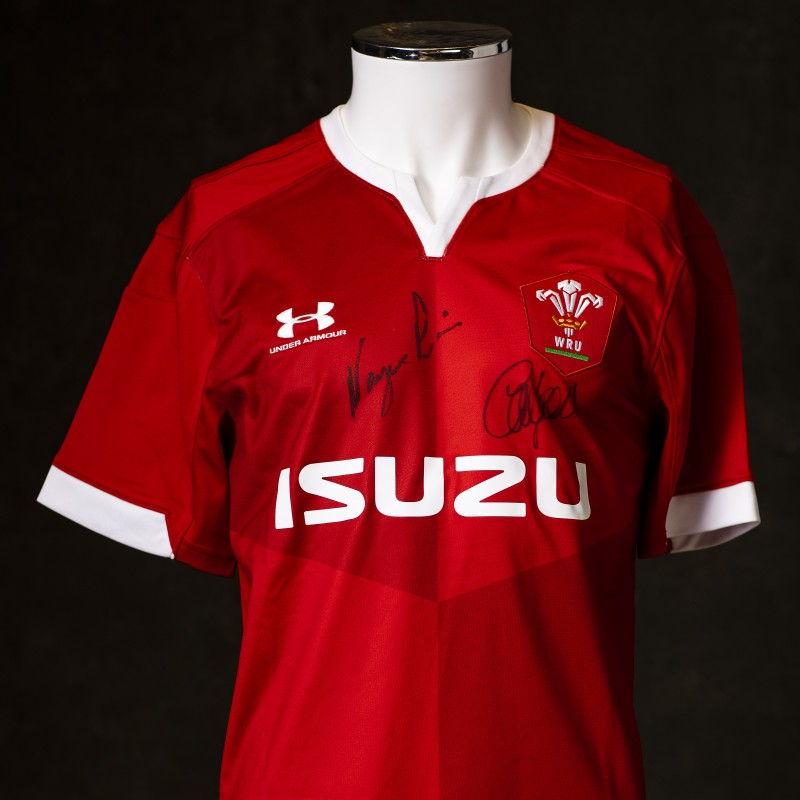 Coach and Captain Signed Wales 2020 Shirt
