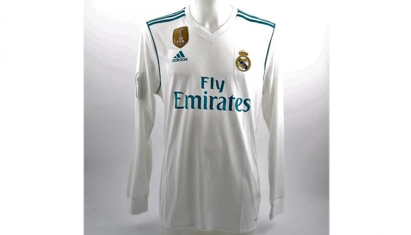 buy online 88074 c4818 Sergio Ramos' Real Madrid Match-Issue/Worn 2017/18 Shirt - CharityStars