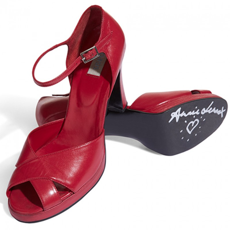 Annie Lennox Signed Shoes