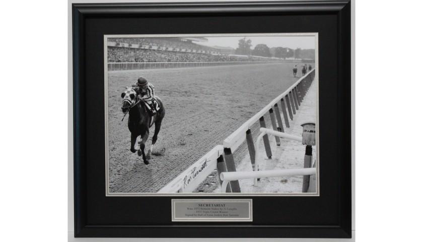 Secretariat Triple Crown Champion Photograph Hand Signed by Ron Turcotte