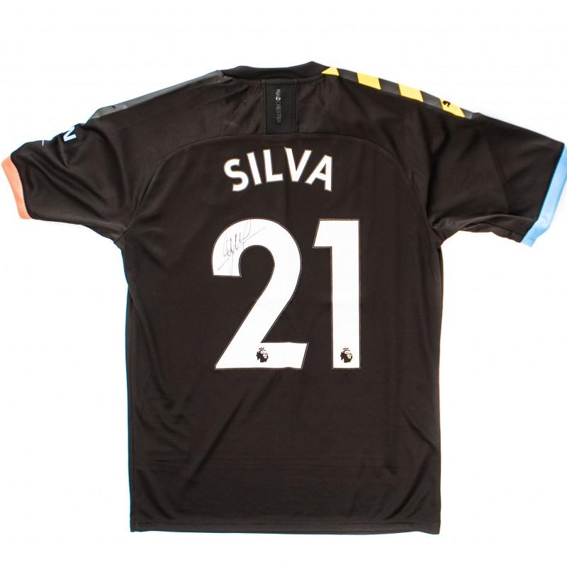 Manchester City PUMA 2019/20 Signed David Silva Away Shirt
