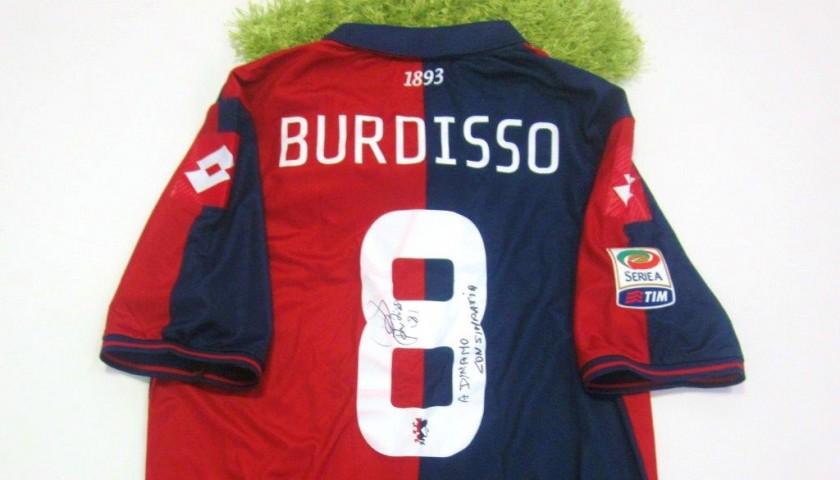Burdisso Genoa match issued/worn shirt, Serie A 2014/2015 - signed