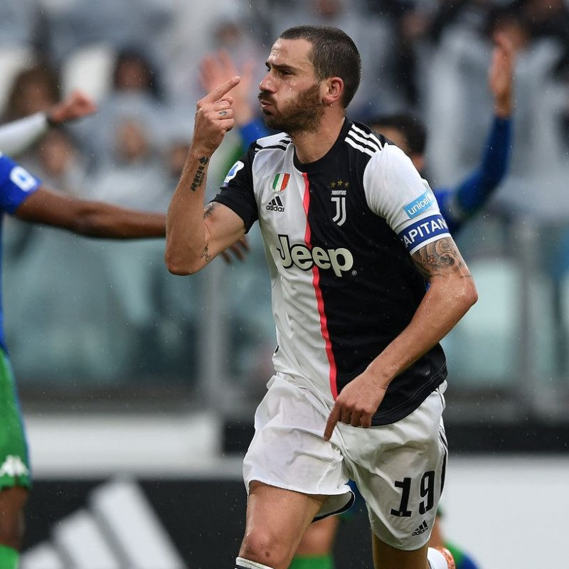 Bonucci's Signed Shirt with Unicef Patch, Juventus-Sassuolo