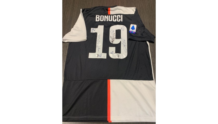 Bonucci's Official Juventus Shirt, 2019/20 - Signed by the Players