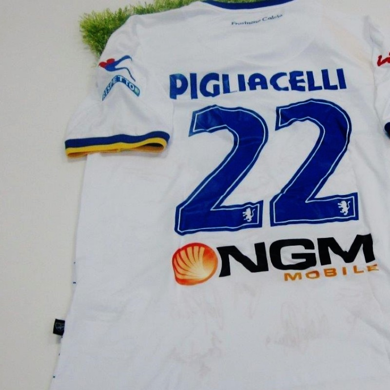 Pigliacelli Frosinone match worn/issued shirt, Serie B 2014/2015 - signed