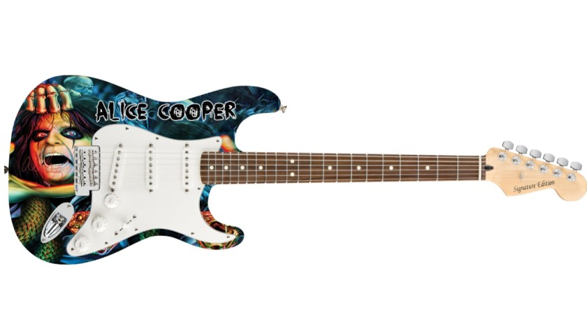 Alice Cooper Signed Guitar