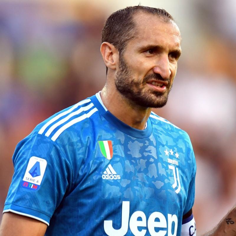 Chiellini's Match Shirt, Parma-Juventus 2019