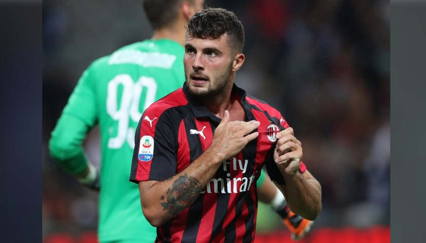 Cutrone's AC Milan Match-Issue Signed Shirt, 2018/19
