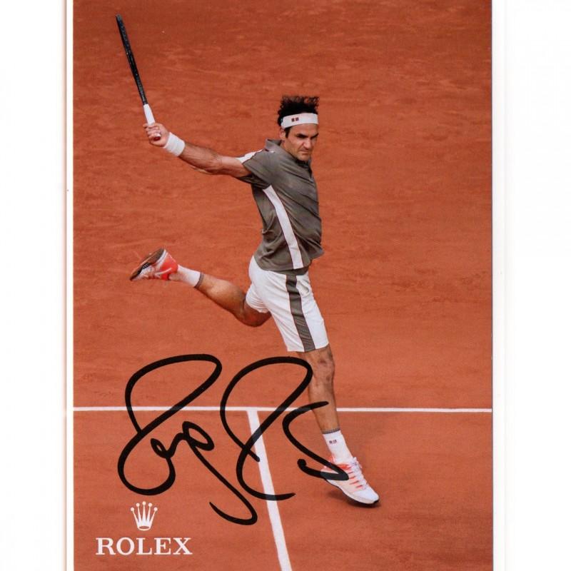 Roger Federer Signed Fan Card
