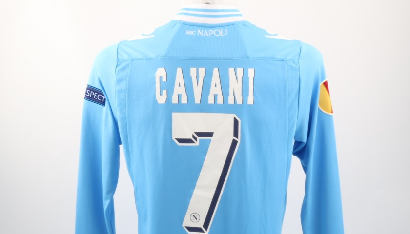 Cavani Napoli Shirt Issued Worn Europa League 15 16 Signed Charitystars
