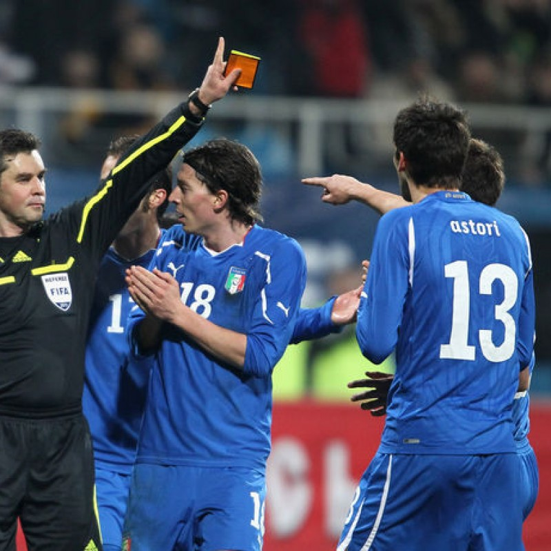 Astori's Match-Issue Shirt, Ukraine-Italy 2011