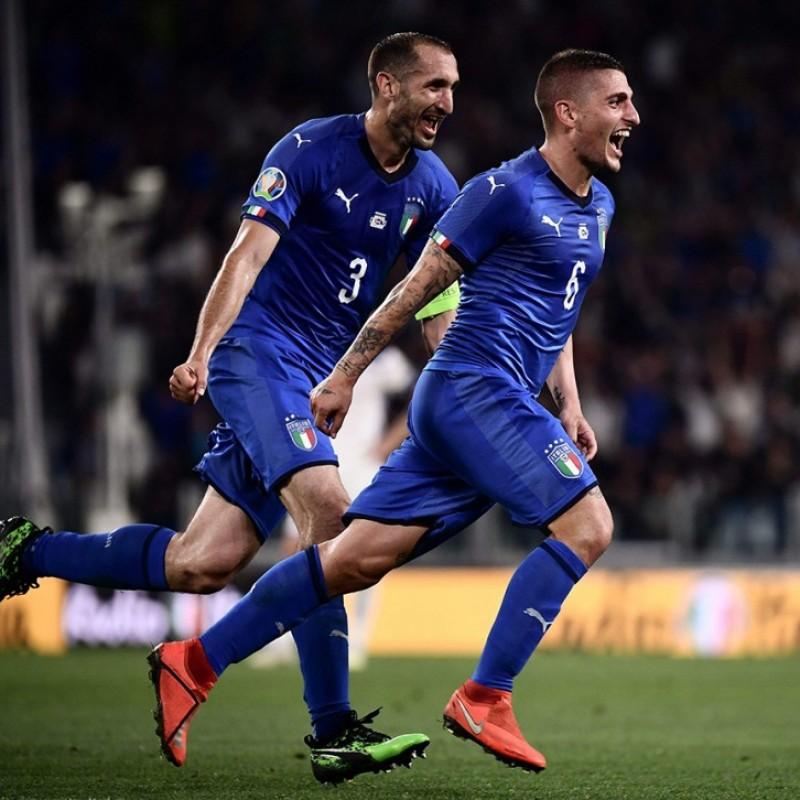 Verratti's Match Shorts, Italy-Bosnia 2019