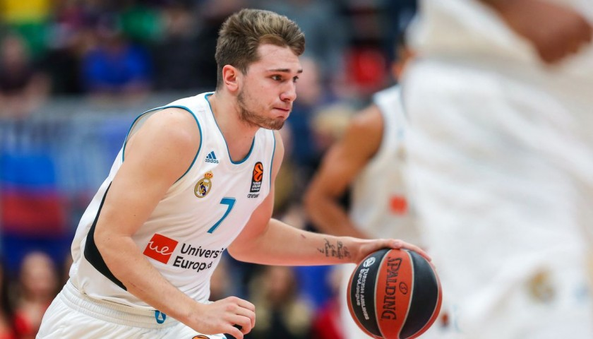 Official 2018 Turkish Airlines EuroLeague Final Four Ball Signed by MVP Luka Doncic