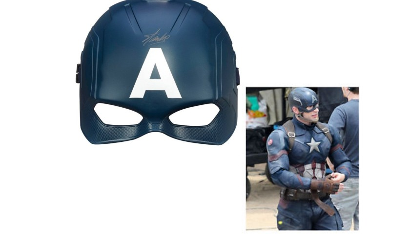 """""""Captain America"""" Mask with Stan Lee Printed Signature"""