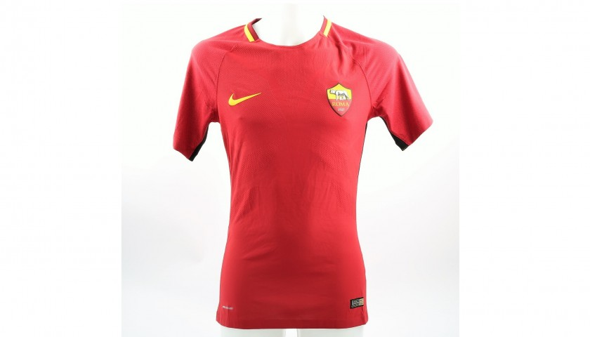 Florenzi's Roma Match-Issued/Signed Shirt, Serie A 2017/18
