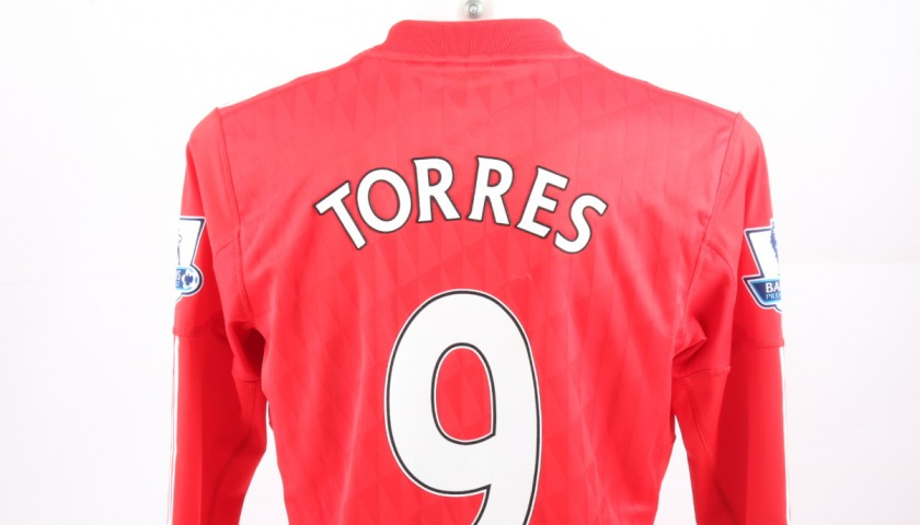 check out 02b1a 10166 Match issued Torres Liverpool shirt, Premier League 10/11 - CharityStars