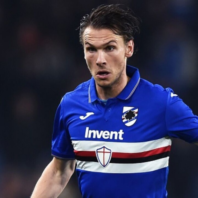 Ekdal's Sampdoria Match-Issued and Signed Shirt, 2019/20