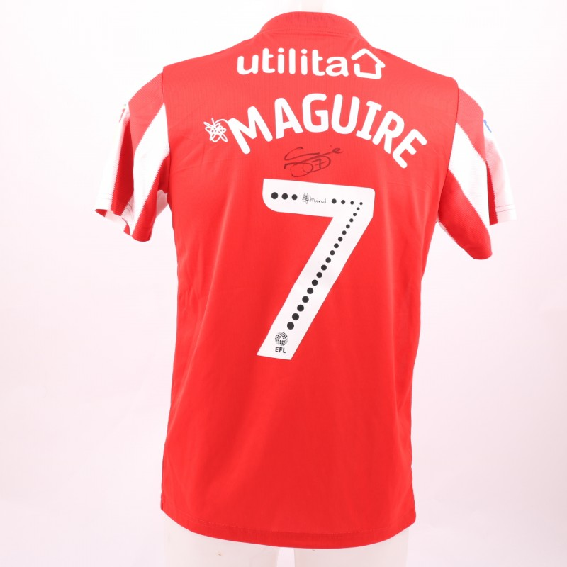 Maguire's Sunderland AFC Worn and Signed Poppy Shirt