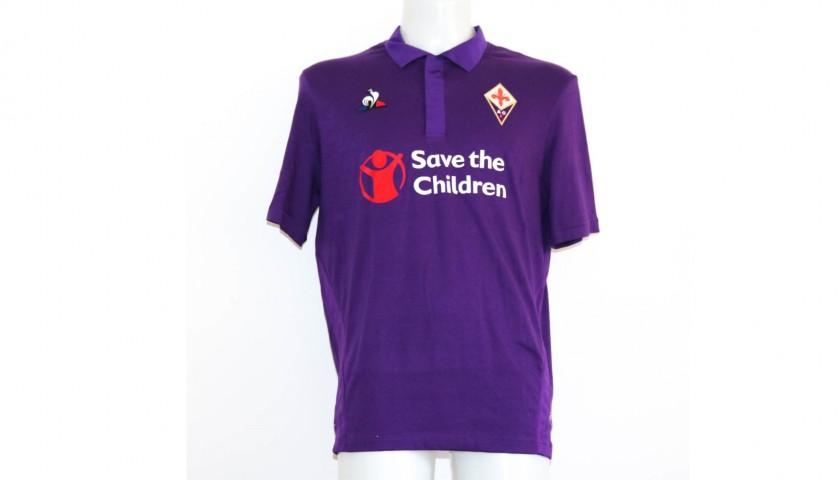 f968453d30b Chiesa's Fiorentina Match-Issue Signed Shirt, 2018/19 Season - CharityStars