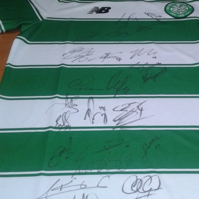 Celtic shirt signed by 22 players
