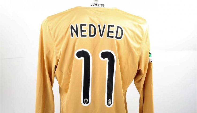new style 77669 38b8f Nedved Juventus Match-Issued/Worn Shirt, Serie A 2008/09 - CharityStars