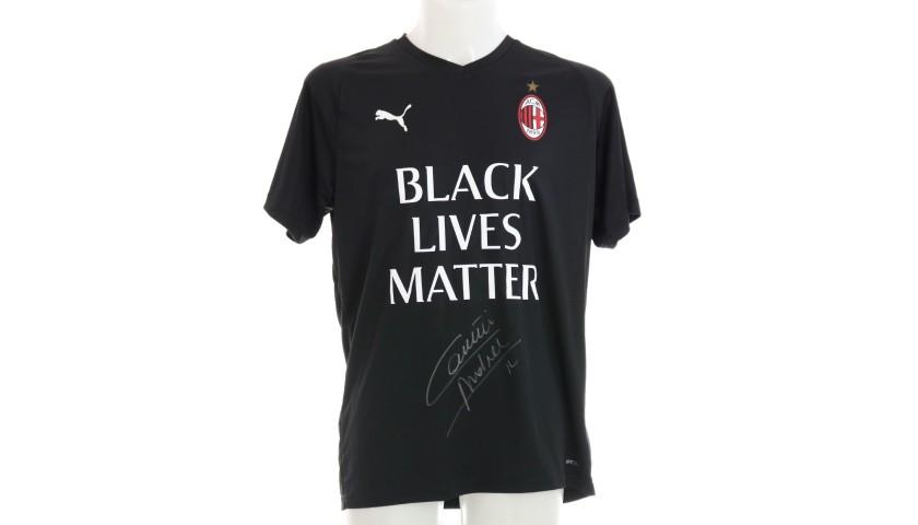 """""""Black Lives Matter"""" Training Shirt, Juventus-Milan - Signed by Conti"""