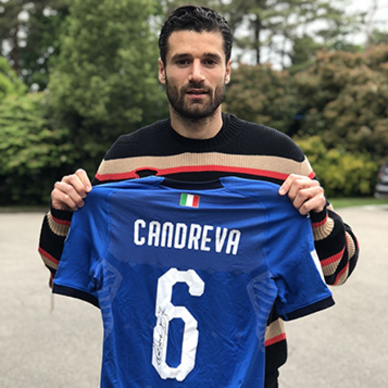 Candreva's Match-Issued/Worn 2017 Italy-Sweden Shirt - Signed