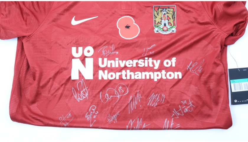 Northampton Town Official Poppy Shirt Signed by the Team