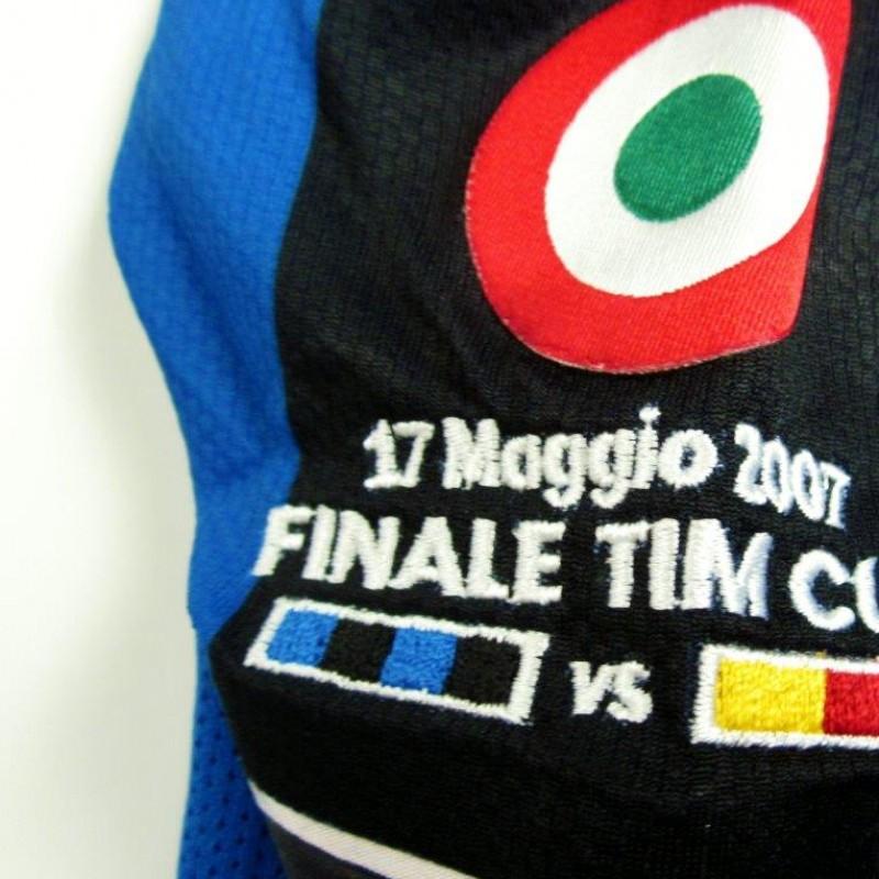 Figo match issued/worn shirt, Inter-Roma, TimCup Final 2006/2007