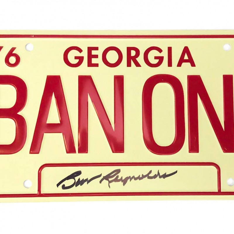 "Burt Reynolds Signed""Smokey and the Bandit"" License Plate"