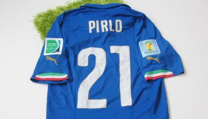 8562a0c02 Pirlo Italy match issued/worn shirt, FIFA World Cup Brazil 2014 ...
