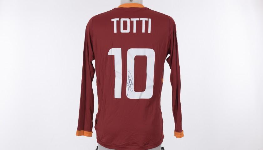 Francesco Totti's AS Roma Signed Shirt,  2011/2012