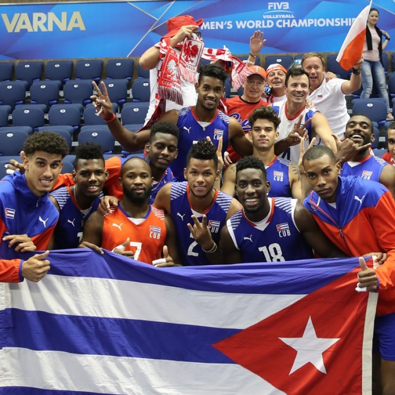 Official FIVB Volleyball Signed by the Cuban National Volleyball Team