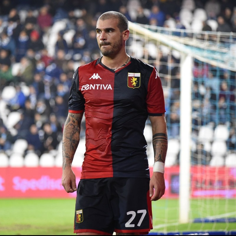 Sturaro's Match-Issued Signed Shirt, Genoa-Sampdoria 2019