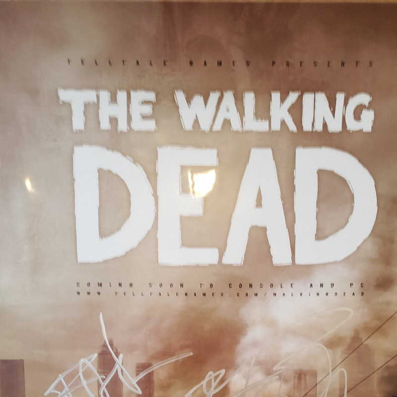 The Walking Dead Hand Signed Poster