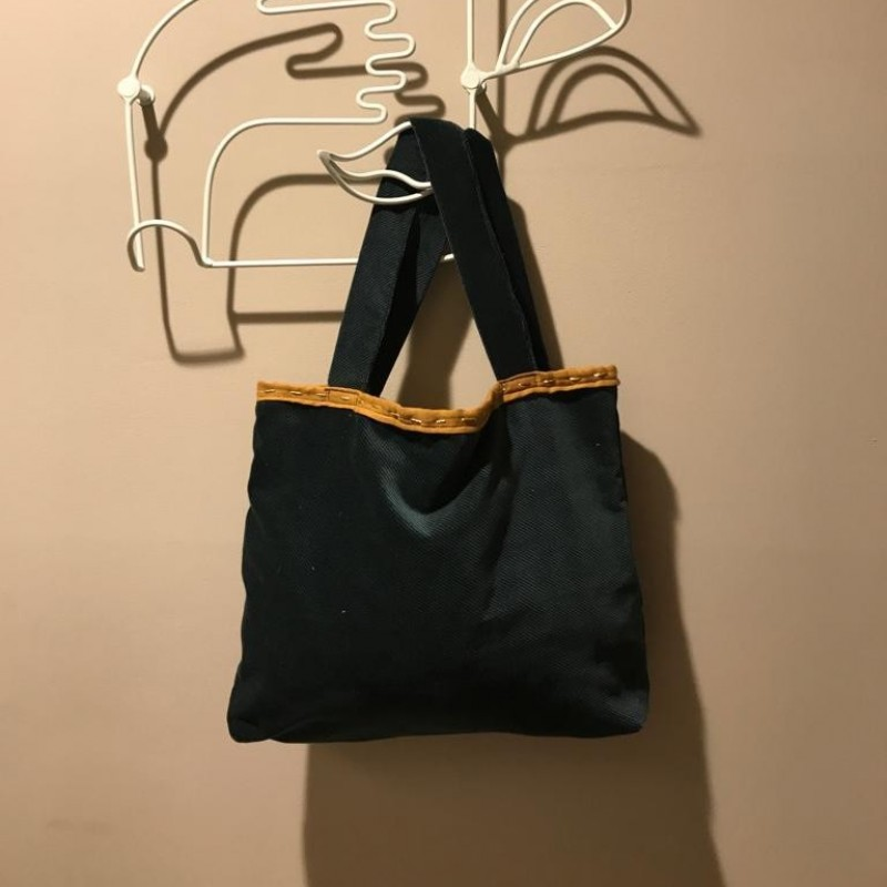 Laura Zagari Green Handmade Bag