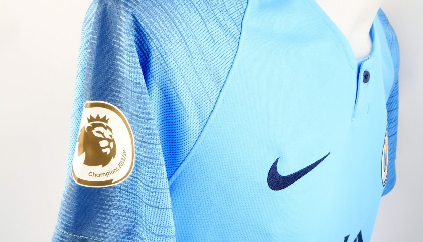 Man City 2019 Champions Shirt - Signed by Bernardo Silva