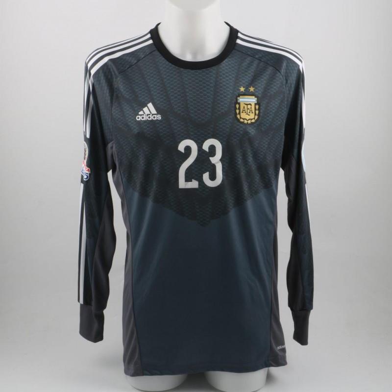 Andujar Argentina shirt, issued/worn Copa America 2015
