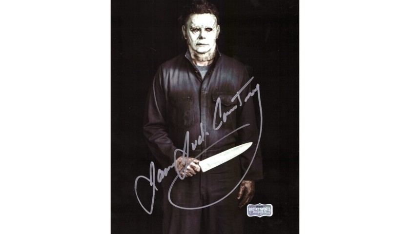James Jude Courtney Signed Halloween Photo – Knife in Hand