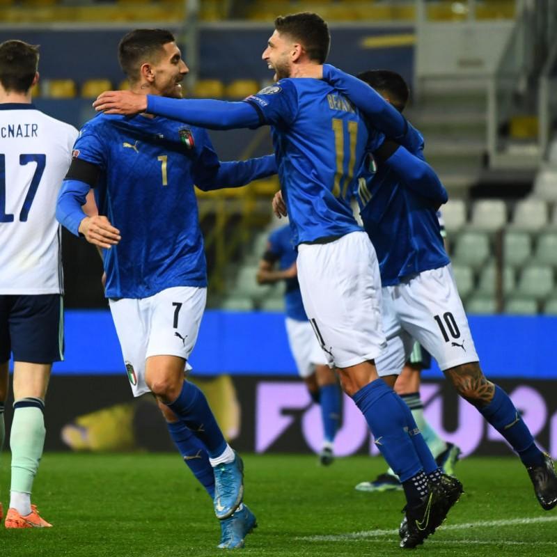 Pellegrini's Match Shirt, Italy-Northern Ireland 2021