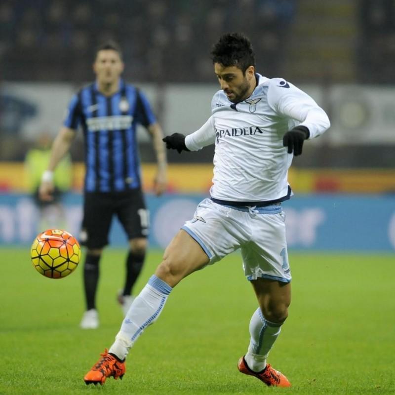 Anderson's Lazio Match-Issue/Worn Shirt, 2015/16