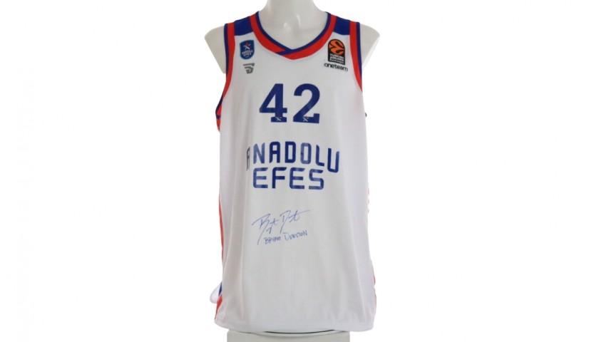 Dunston's Anadolu Efes Worn and Signed Jersey, Eurolega 2020/21