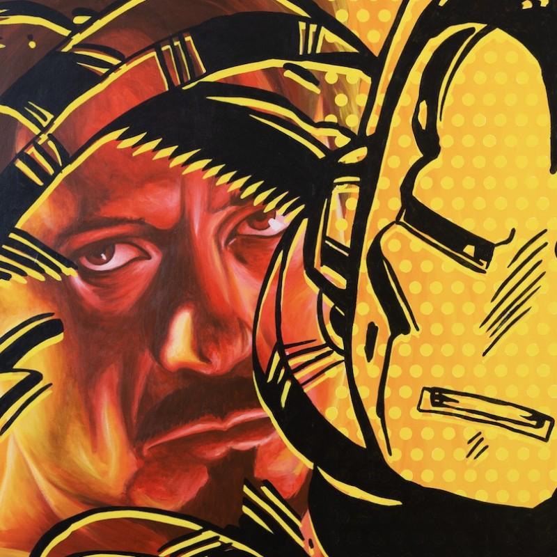 "Dipinto olio su tela ""Tony Stark is Iron Man"" di Mute"