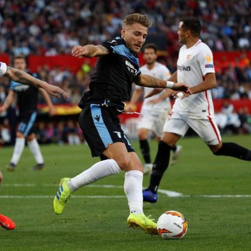 Immobile's Signed Match Shirt, Seville-Lazio 2019